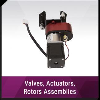 Valves, Actuators, Rotors Assemblies