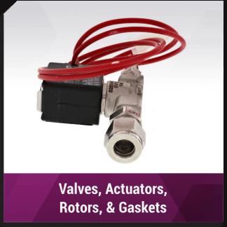 Valves, Actuators, Rotors, Gaskets & more