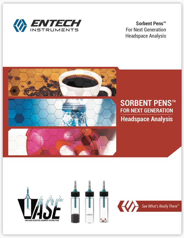 Entech Headspace Sorbent Pens™ for VASE - Vacuum Assisted Sorbent Extraction