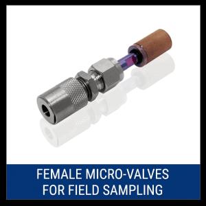 Female Micro-Valves for Field Sampling