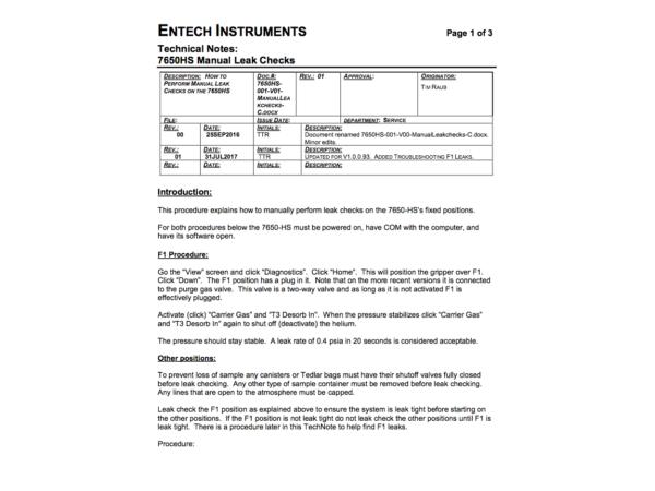 7650HS Manual Leak-check