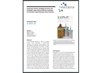 Improving Canister Sampling Accuracy and Reliability Using Helium Diffusion Sampling into Silonite Coated Stainless Steel Canisters