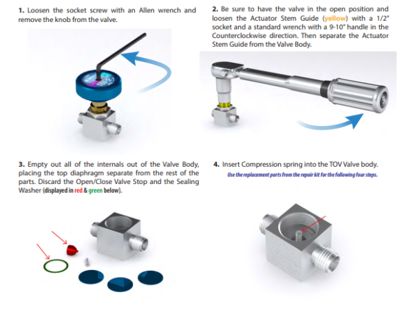 TOV-2 / ( TOV ) Repair Kit Instructions 2017
